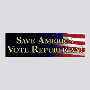 Save America Vote Republican! 36x11 Wall Decal