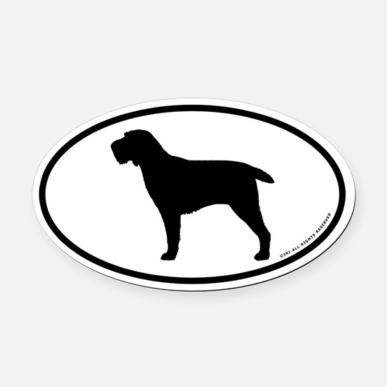 Spinone Italiano Oval Car Magnet