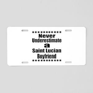 Never Underestimate A Saint Aluminum License Plate