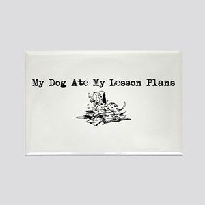 My Dog Ate My Lesson Plans Rectangle Magnet
