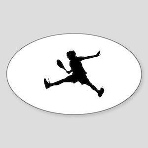 Tennis Sticker (Oval)