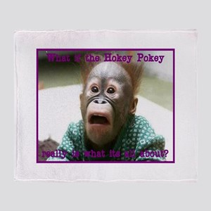 Hokey Pokey Orangutan Throw Blanket