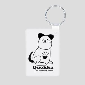 Quokka v.1 Aluminum Photo Keychain