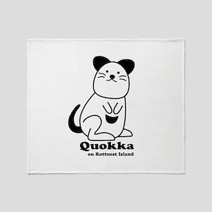 Quokka v.1 Throw Blanket