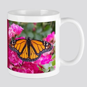 Monarch on rose Mug