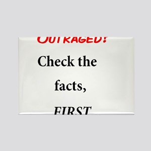 Facts First Rectangle Magnet