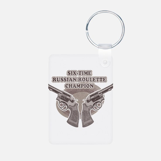 russian roulette Keychains