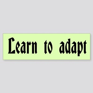 Learn to Adapt Custom Sticker (Bumper)