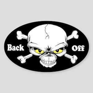 Back Off Custom Sticker (Oval)