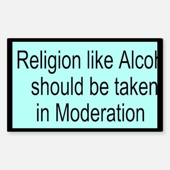 Religion like Alcohol Custom Sticker (Rectangle)