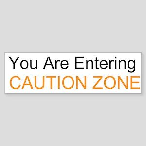 Entering Caution Zone Sticker (Bumper 10 pk)