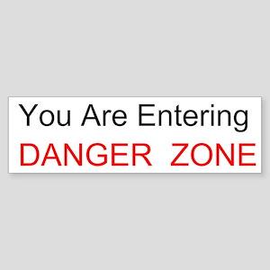 Entering Danger Zone Custom Sticker (Bumper 10 pk)