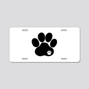 Double Paw Aluminum License Plate