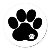 Paw Round Car Magnets