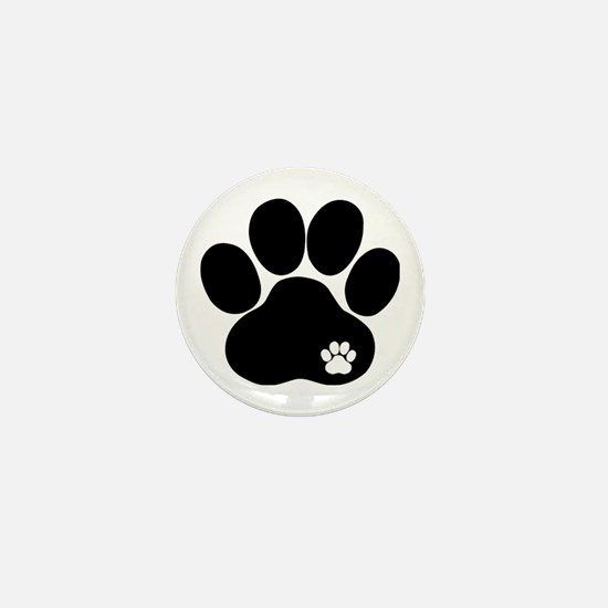 Double Paw Mini Button