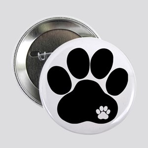 """Double Paw 2.25"""" Button"""