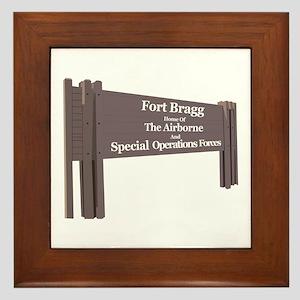 Fort Bragg Framed Tile