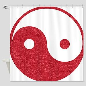 Vintage Yin Yang Shower Curtain