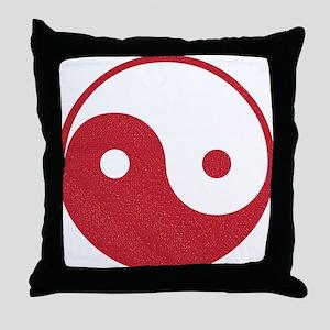Vintage Yin Yang Throw Pillow
