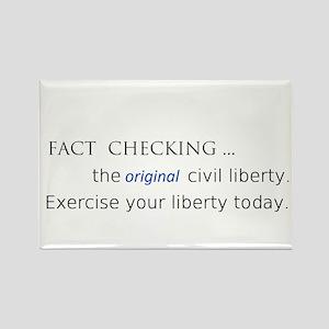 fact check liberty Rectangle Magnet