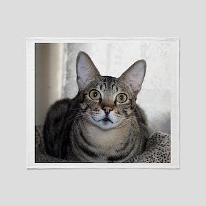 Savanna Cat Portrait Throw Blanket