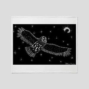 Stary Sky Owl Throw Blanket