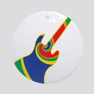 Groovy Guitar Ornament (Round)