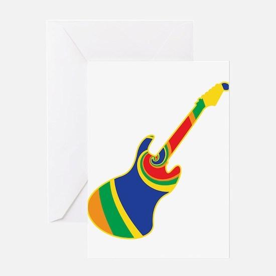 Groovy Guitar Greeting Card