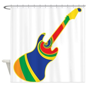 Acoustic Guitar Shower Curtains