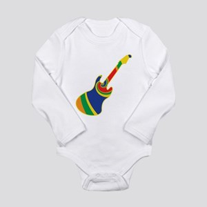 Groovy Guitar Long Sleeve Infant Bodysuit
