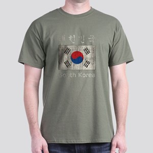 Vintage South Korea Flag Dark T-Shirt