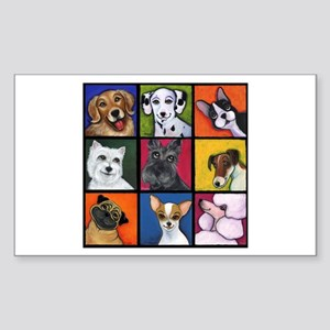 Maggie's Angels Dogs Rectangle Sticker