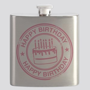 Happy Birthday Cake Pink Flask
