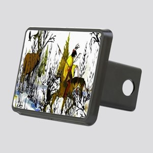 Native American Warrior Rectangular Hitch Cover