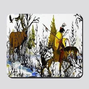 Native American Warrior Mousepad