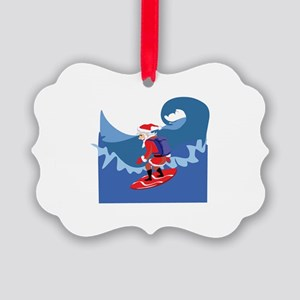 Surfing Picture Ornament