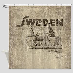 Vintage Sweden Shower Curtain