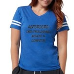 Aspergers Geek Womens Football Shirt