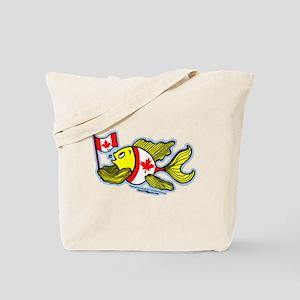 Canadian Flag Fish Tote Bag
