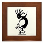 Skateboarder Framed Tile