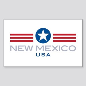 New Mexico-Star Stripes: Rectangle Sticker