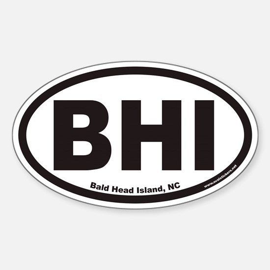 Bald Head Island BHI Euro Oval Decal