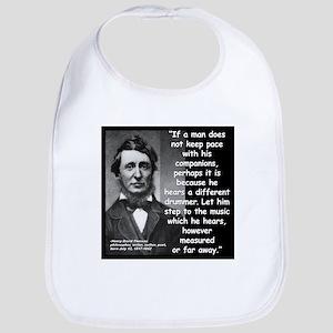 Thoreau Drummer Quote 2 Bib