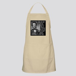 Thoreau Drummer Quote 2 Apron