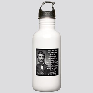Thoreau Drummer Quote 2 Stainless Water Bottle 1.0