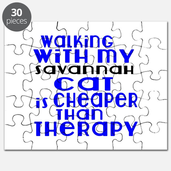Walking With My savannah Cat Puzzle