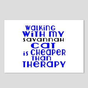 Walking With My savannah Postcards (Package of 8)