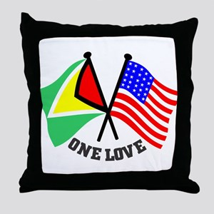 One Love - Guyana/American flag t-shirt Throw Pill