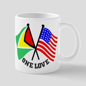 One Love - Guyana/American flag t-shirt Mug