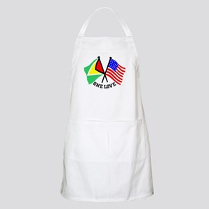 One Love - Guyana/American flag t-shirt Apron